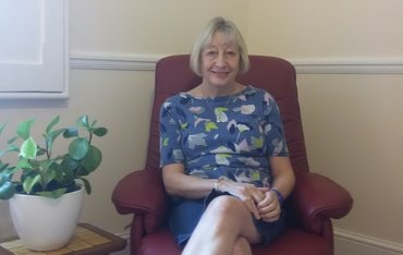 Sally Hunt - bereavement counsellor at her therapy room